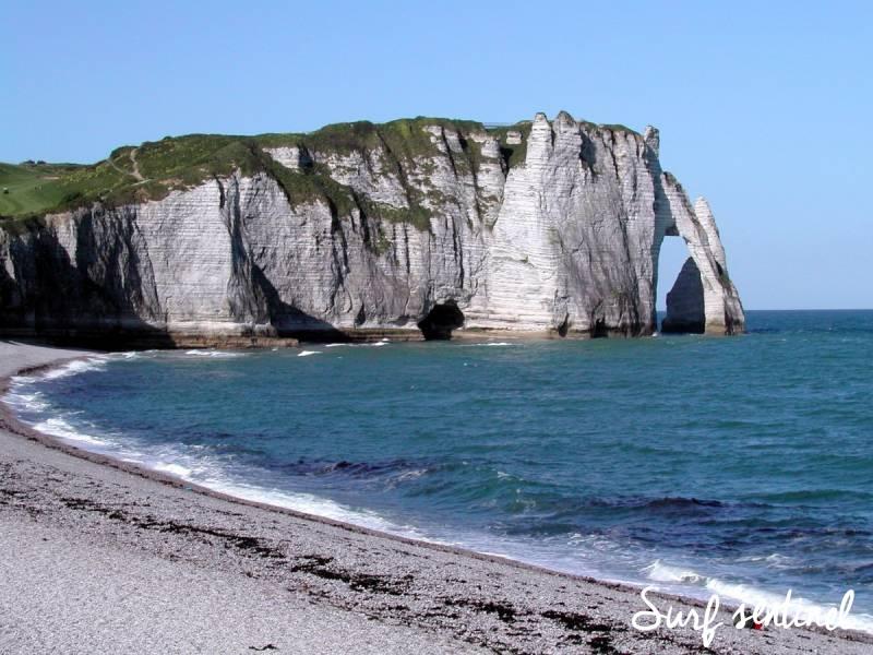 Photo du spot L'Aiguille Creuse à Étretat : Prévisions de vagues en temps réel
