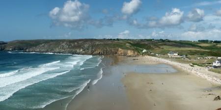 Météo des vagues et surf report sur le spot de surf de  Baie des Trépassés à Plogoff, Finistère