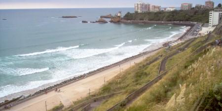 Météo des vagues et surf report sur le spot de surf de  La Côte des basques à Biarritz, Pyrénées-Atlantiques