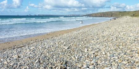 Météo des vagues et surf report sur le spot de surf de  La Palue à Crozon, Finistère