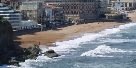 Météo des vagues et surf report sur le spot de surf de  Le Miramar à Biarritz, Pyrénées-Atlantiques