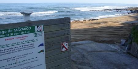 Météo des vagues et surf report sur le spot de surf de  Mayarco à Saint-Jean-de-Luz, Pyrénées-Atlantiques