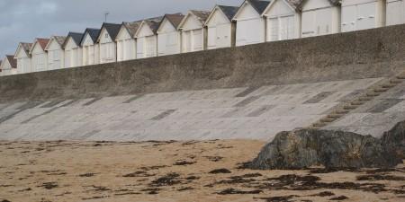 Météo des vagues et surf report sur le spot de surf de  Carolles-Plage à Carolles, Manche