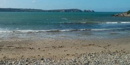 Météo des vagues et surf report sur le spot de surf de  Kerloc'h (Kersiguénou) à Crozon, Finistère