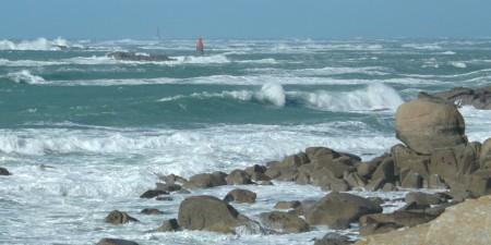 Météo des vagues et surf report sur le spot de surf de  Gouérou à Lampaul-Plouarzel, Finistère