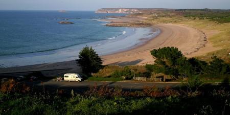 Météo des vagues et surf report sur le spot de surf de  Grèves d'en Bas à Fréhel, Côtes-d'Armor