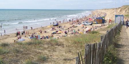 Météo des vagues et surf report sur le spot de surf de  Sauveterre à Olonne-sur-Mer, Vendée