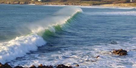Météo des vagues et surf report sur le spot de surf de  Saint Tugen à Esquibien, Finistère