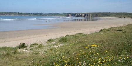 Météo des vagues et surf report sur le spot de surf de  Goulien à Crozon, Finistère