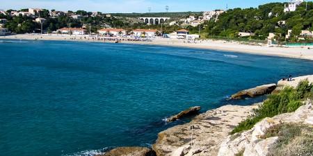 Météo des vagues et surf report sur le spot de surf de  La Couronne (Plage du Verdon) à Martigues, Bouches-du-Rhône