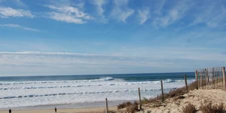 Météo des vagues et surf report sur le spot de surf de  Le Porge à Le Porge, Gironde